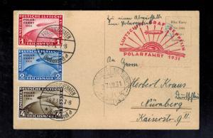 1931 Germany Graf Zeppelin Icebreaker Malyguin Cover Polar Flight LZ127 # C40-42