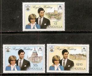 Anguilla MNH 444-6 Royal Wedding Princess Diana 1981