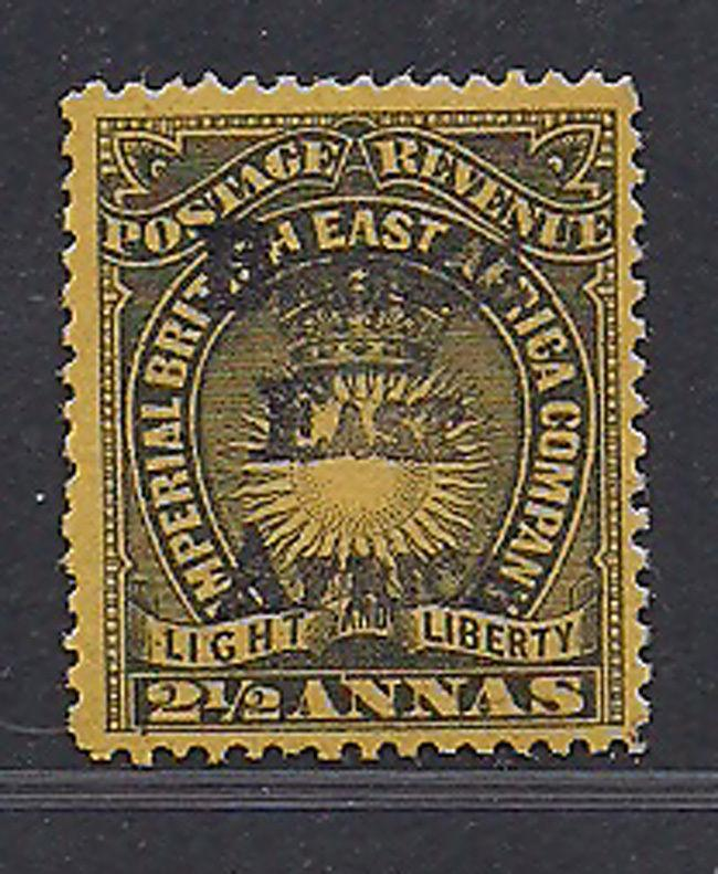 British East Africa Stamp (Sg 36) 21/2a 1895 MLH £200 / $260