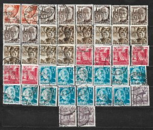 COLLECTION LOT OF 42 GERMANY  RHINE PALATINATE 1948+ STAMPS CLEARANCE CV+ $20