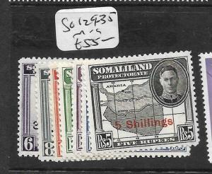 SOMALILAND  (P0506B)  KGVI  SG 129-135   MOG