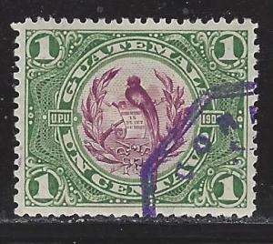 Guatemala Scott # 114, used