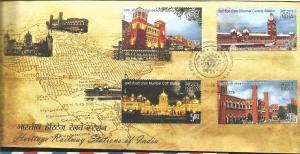 J) 2009 INDIA, HOWRAH STATION, CHENNAI CENTRAL STATION, MUMBAI CST STATION, OLD
