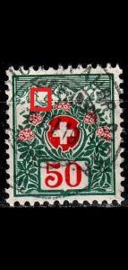 SCHWEIZ SWITZERLAND [Porto] MiNr 0037 I ( O/used ) Plattenfehler