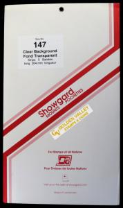 Showgard Stamp Mount 147/264 CLEAR Background Pack of 5
