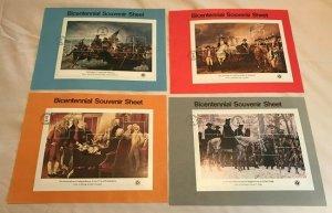 US SP413 - SP416 Bicentennial set of 4 Souvenir Pages #1686 - 1689