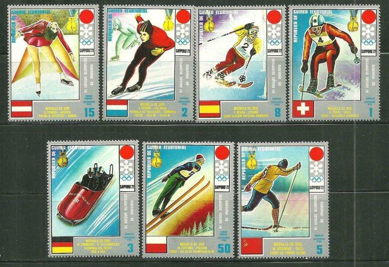 Equatorial Guinea MNH Sapporo Winter Snow Olympics 1972