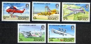 Alderney Sc# 18-22 MNH 1985 Definitives