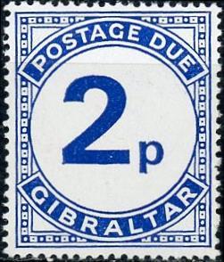 Gibraltar #J6 Postage Due MNH