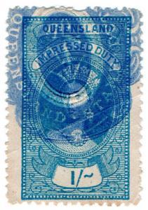 (I.B) Australia - Queensland Revenue : Impressed Duty 1/- (Rockhampton)
