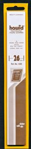 Hawid Stamp Mount Size 26/210 mm - BLACK (Pack of 25) (26x210 26mm)  #1026 STRIP