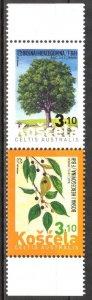Bosnia / Croatian Post 2013 Flora Trees pair MNH