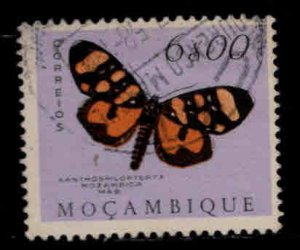 Mozambique Scott 380 Used butterfly or moth stamp