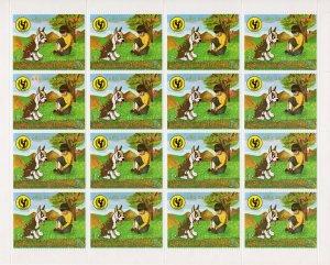 Equatorial Guinea 1979 Mi#1484 DOG-UNICEF  Mini-Sheetlet (16) MNH