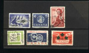 Canada  383-88 Complete set used PD 1959