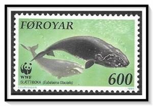 Faroe Islands #210 Whales WWF MNH