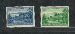 Norfolk Island Sc#23-24 M/NH/VF, Cv. $29