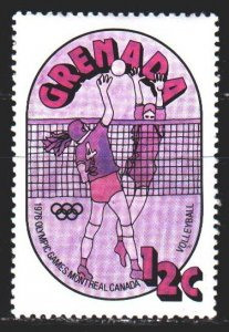 Grenada. 1976. 705 from the series. Volleyball, Montreal, Summer Olympics. MNH.