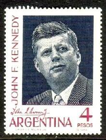 Argentina MNH 760 John F. Kennedy 1964