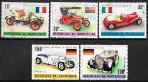 Burkina Faso #362-364,C206-C207  Cars (U) CV $1.95