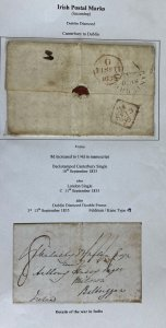 1835 Canterbury  England Letter Sheet Cover To Dublin Ireland Stampless