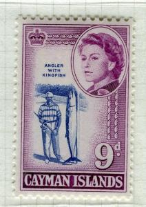 CAYMAN ISLANDS; 1962 early QEII pictorial issue fine Mint hinged 9d. value
