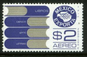 MEXICO Exporta C493 $2P Books Unwmkd Fosfo Paper 5 MINT, NH. VF.