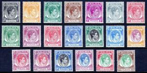 MALAYA (PENANG) — SCOTT 3-22 (SG 3-22) — 1949-52 KGVI SET — MH — SCV $142.60