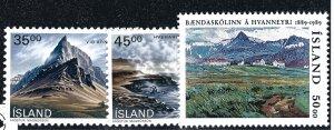 Iceland Attractive Sc#678-680 MNH OG VF SCV $5.50...nice bargain!!