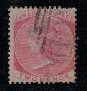 Jamaica 1860-1863 2 Used SCV $60.00