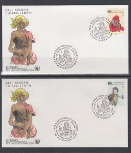 UN Vienna 55-56 UN Postal Administration U/A Set of Two FDC