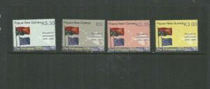 PAPUA NEW GUINEA 2008 SCOTT 1307-10 MNH SCV $10