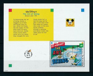 [23289] St. Vincent 1992 Disney Movie The art of skiing MNH