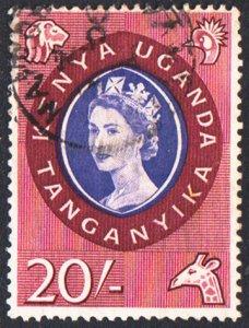 Kenya Uganda & Tanganyika Scott 135 Used.