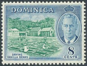 Dominica 1951 8c Blue-Green & Blue SG127 MNH