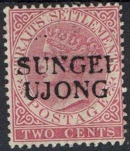 SUNGEI UJONG 1885 QV STRAITS 2C SG TYPE 26 NO GUM