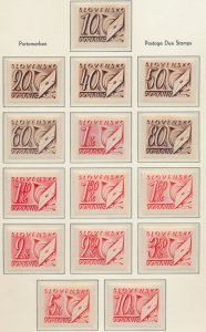 Slovakia Stamps Scott #J24 To J38, Mint Hinged - Free U.S. Shipping, Free Wor...