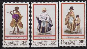 POLYNESIE FRANCAISE [1984] MiNr 0404-06 ( **/mnh ) Trachten