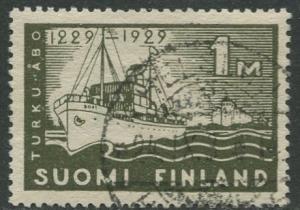 Finland - Scott 155 - Turku Castle 700th Anniv. -1929- FU - Single 1m Stamp