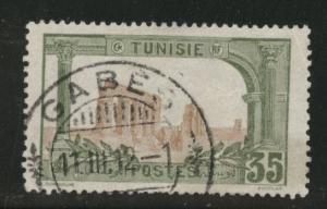 Tunis Tunisia Scott 43 used 1906 stamp