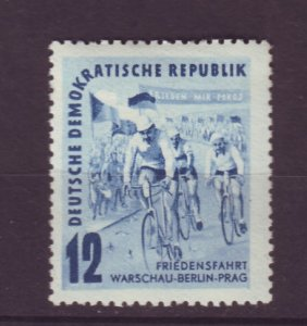 J24121 JLstamps 1952 germany DDR set of 1 mh #98 bicycle race