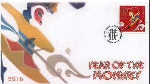 2016, Canada FDC, Year of the Monkey, Toronto, 16-008
