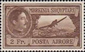 Albania 1930 King Zog and Airplane over Tirana 2 fr. MNH**