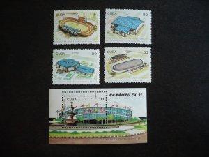 Stamps - Cuba - Scott# 3339-3343 - MNH Set of 4 stamps and 1 Souvenir Sheet