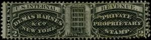 #RS25b 2¢ BLACK SILK PAPER DEMAS BARNES & Co. CV $500.00 BQ1050