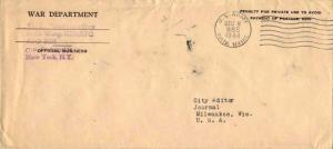 United States A.P.O.'s War Department Penalty 1944 U.S. Army, Postal Service ...