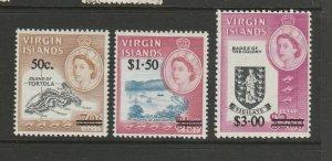 British Virgin islands 1966 Opts MM SG 207/9