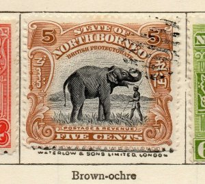 North Borneo 1909 Early Issue Fine Used 5c. NW-113839