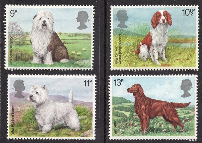 Great Britain  #851-854   MNH  1979 dogs