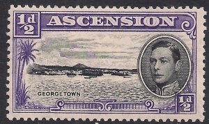 Ascension Island 1938 - 53 KGV1 1/2d Black & Violet MM SG 38b ( A1154 )